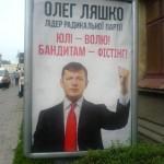Фотофакт: Нова політична реклама в Ужгороді