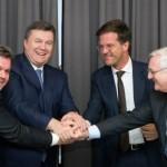 У Давосі Віктор Янукович підписав договір про видобуток сланцевого газу з офіціантом