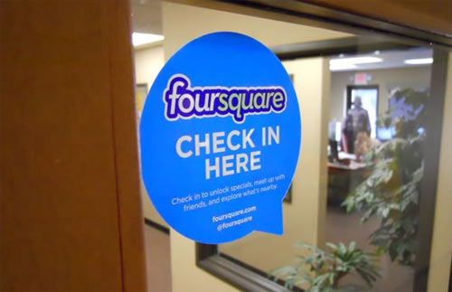 Foursquare: check in here