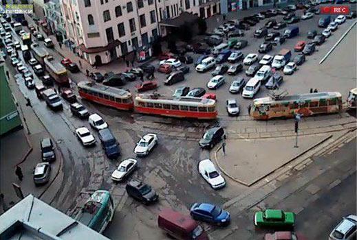 Транспортний колапс у Харкові