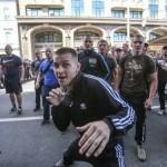 У Києві молодики провели мітинг з вимогою припинити тиск на Вадима Титушка