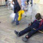 Московські жебраки перестали приймати милостиню в російських рублях
