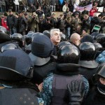 У Києві бійці «Беркуту» влаштували акцію-вибачення