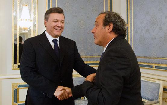 Віктор Янукович та Мішель Платіні