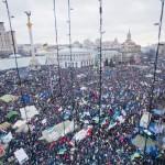 Фотофакт: 8 грудня на Євромайдан вийшло декілька сотень демонстрантів