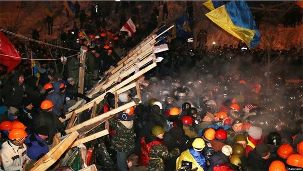 Євромайдан: штурм на вул. Інституцькій