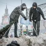Євромайдан: барикади зі снігу