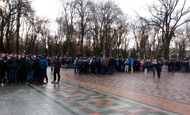 Мітингувальники, Маріїнський парк
