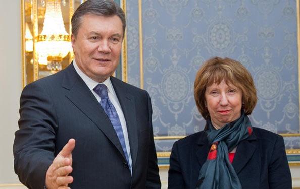 Віктор Янукович та Кетрін Ештон