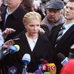 Юлія Тимошенко спілкується з пресою