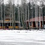 У Межигір'ї випав сніг