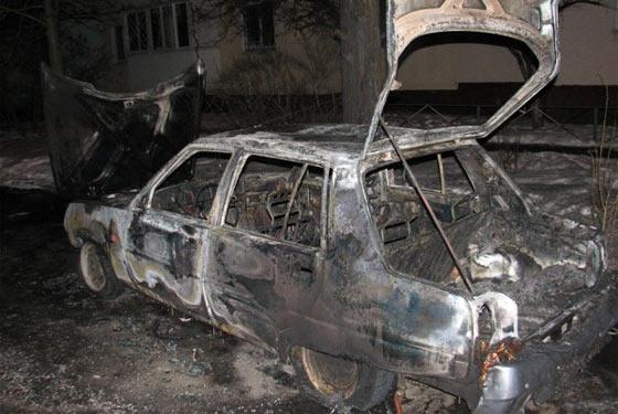 Спалене авто активіста Автомайдану