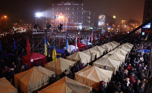 Євромайдан: наметове містечко