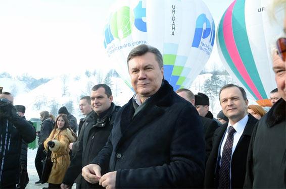Віктор Янукович зимою
