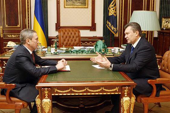 Віктор Янукович та Леонід Черновецький