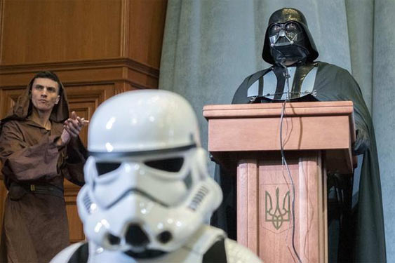 Дарт Вейдер, кандидат в президенти України