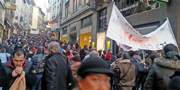 Протест у Швейцарії