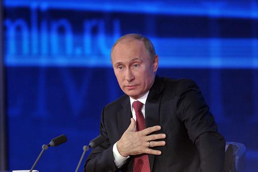 Володимир Путін на прес-конференції