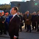 В Криму на честь приїзду Медведєва пофарбували море