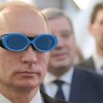 Фотофакт: Путін дивиться на Європу крізь голубі окуляри