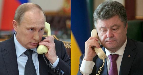 Путін та Порошенко поговорили по телефону