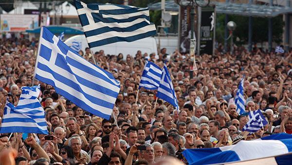 Мітинг у Греції