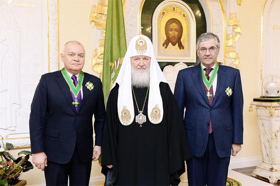Дмитро Кисельов, Патріарх Кирил, Олег Добродєєв