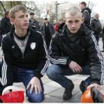 У Києві 15-річні шахтарі пікетували Адміністрацію президента, вимагаючи у Кличка збільшення пенсій