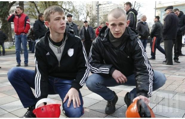 Мітинг шахтарів у Києві