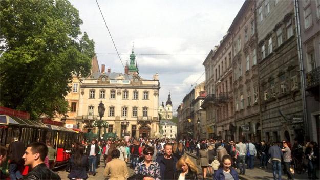 Туристи у Львові